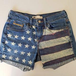 Levi Strauss & Co American Flag Demin Shorts